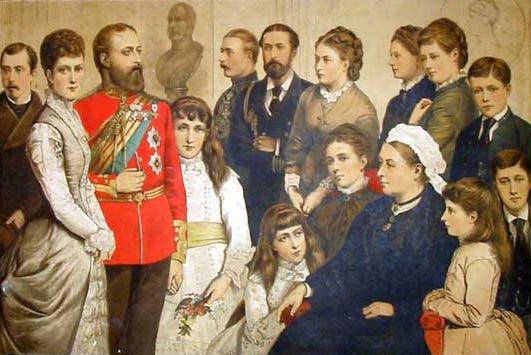 Queen Victoria Children And Grandchildren Battenberg/Moun...
